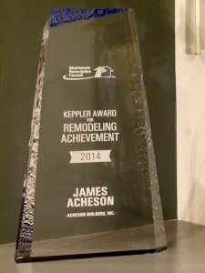 photo of the 2014 Keppler Award for Remodeling Achievement