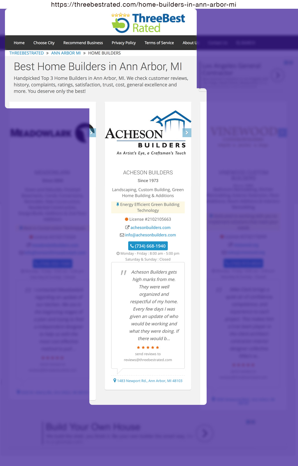 One of three best rated home builders acheson builders Best home builder websites